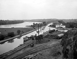 Western Maryland Railway - Williamsport on the C&O Canal was the WM's western terminus from 1873, and its principal source of coal traffic until the main line was extended to Cumberland in 1906