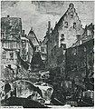 Willy Stahl (* 1882; † 1937) - Ansicht der Baugrube Kirchbrunnenstraße 9 mit den Nachbarhäusern Kaiserstraße 20 und 22 (Maulbronner Hof) um 1910, Stadtarchiv Heilbronn, Datenbank Heuss, Signatur E005-1534-0.jpg
