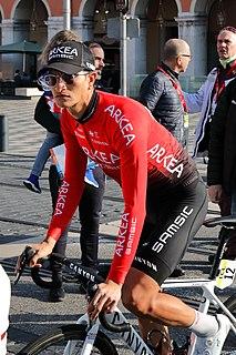 Winner Anacona Colombian road cyclist