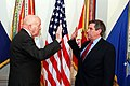 Wolfowitz sworn in as Deputy Secretary of Defense, March 2, 2001.jpg