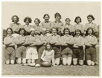 Women's rugby union - Women's rugby union team, New South Wales, Australia, 1930s.
