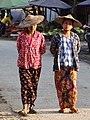 Women Strolling in Street - Hsipaw - Myanmar (Burma) (12219813285).jpg