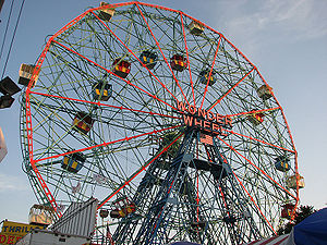 Photograph of the Wonder Wheel located on Cone...