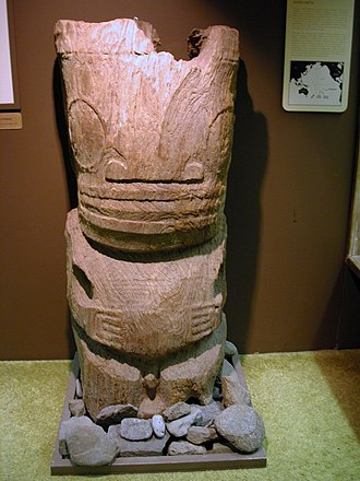 Mangarevan narrative - Another Mangareva deity sculpture, Bernice P. Bishop Museum