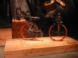 Geneva steam bicycle - Image: Wooden Ped. Bikes 1