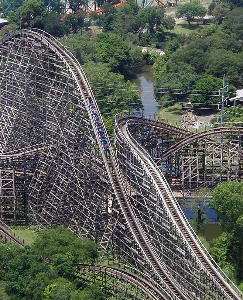 Wooden roller coaster txgi
