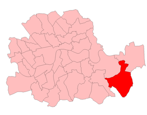 Woolwich West (UK Parliament constituency) - Woolwich West in the County of London 1950-55