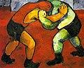 Wrestlers by N.Goncharova (1908-9, GRM).jpg