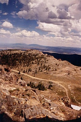 Sierra Madre Range in Wyoming