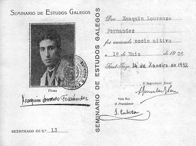 Xoaquín Lourenzo Fernández. Seminario de Estudos Galegos