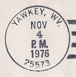 Yawkey, West Virginia - Image: Yawkey WV postmark