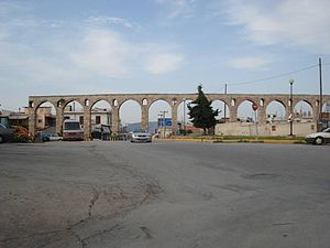 Chalcis - View of the ancient Roman aqueduct