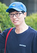 Yoo Jae Suk going to work at Happy Together on August 19, 2017 (1).jpg