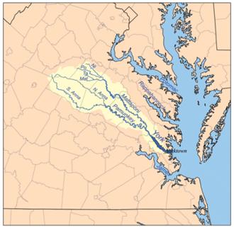 Pamunkey River - York River watershed