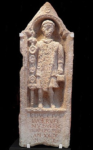 Legio IX Hispana - Memorial to Lucius Duccius Rufinus, a standard bearer of the Ninth, Yorkshire Museum, York