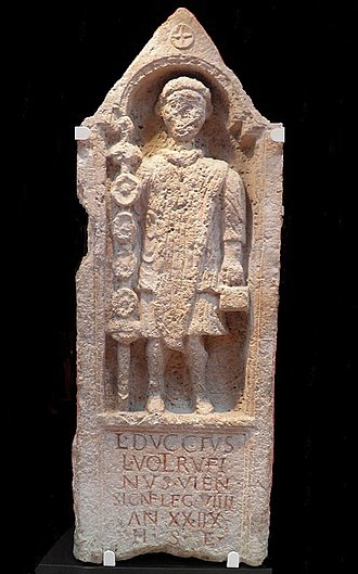 Legio IX Hispana - Memorial to Lucius Duccius Rufinus, a standard bearer of the Ninth, Yorkshire Museum, York