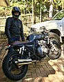 Young man with Honda CB400.jpg