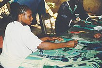 Young woman painting and drawing in Gambia.jpg