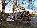 Zahradní Město, Topolová, výstavba podzemních kontejnerů.jpg