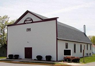 National Register of Historic Places listings in Barron County, Wisconsin - Image: Zapadni Cesko Bratrska Jednota hall, Haugen, Wisconsin