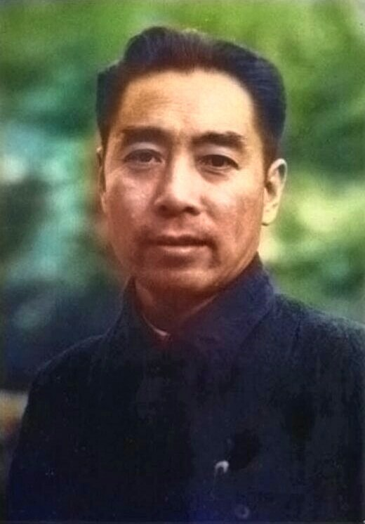 Zhou Enlai in 1940s(color)