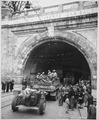 """Genoa, Italy. In this newly liberated city the 92nd Division troops enter the Galleria Guiseppe (sic) Garibaldi."", 04-2 - NARA - 531355.tif"