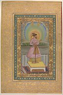 """Shah Jahan on a Terrace, Holding a Pendant Set With His Portrait"", Folio from the Shah Jahan Album MET DP246547.jpg"