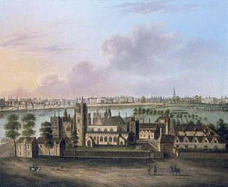 Lambeth Marsh - Lambeth Palace with Lambeth Marsh behind it, c. 1685