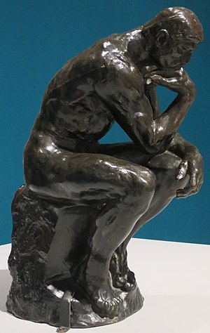 'The Thinker' by Auguste Rodin, 14.75 inches, North Carolina Museum of Art.JPG