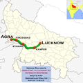(Agra - Lucknow) Intercity Express route map.png