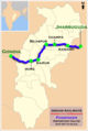 (Gondia - Jharsuguda) Passenger Route map.png
