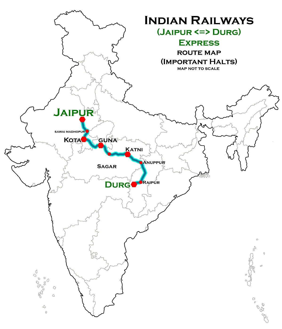 Gauge To Mm >> Durg - Jaipur Weekly Express - Wikipedia