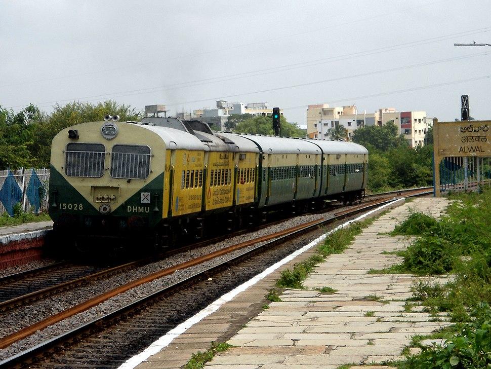 Medchal bound DHMU at Alwal Railway Station