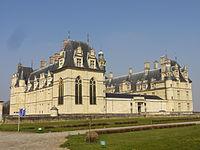Écouen (95), château d'Écouen, façade est 2.jpg