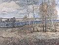 Анатолий Барановский. Осеннее настроение. 1995 г. Холст, масло. 100х130 см.jpg