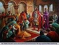 Болгарский Хан Тервел и Византийский император Юстиниан II. Болгарский художник Мирослав Йотов.jpg