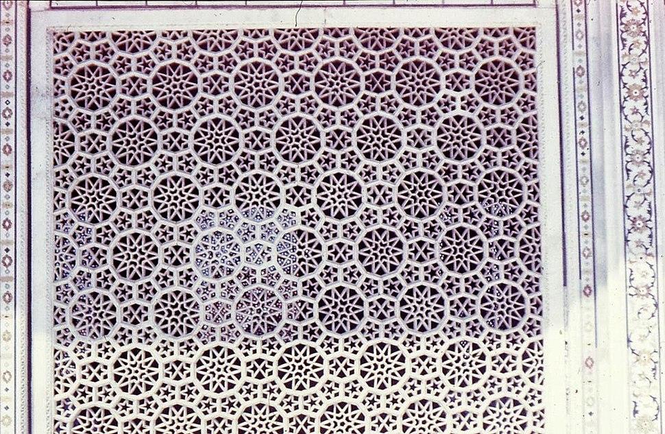Marble jali lattice.