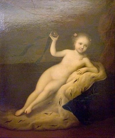 Луи Каравак. Портрет царевны Елизаветы Петровны в детстве, 1717.
