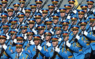 Foreign relations of Serbia - Contingent from the Serbian Armed Forces during the Moscow Victory Day Parade, 9 May 2015