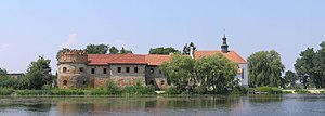 Starokostiantyniv Castle - View from across the Sluch River