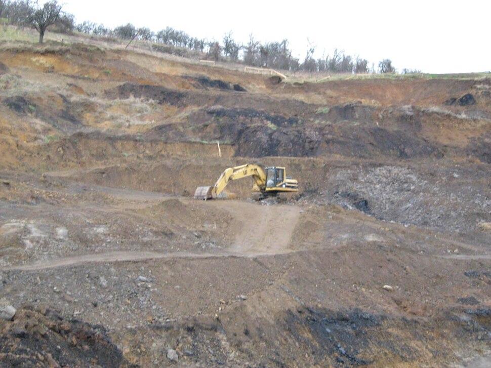 Површински коп рудника Ушће