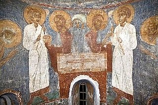 Frescos in the Church of the Transfiguration in Polack