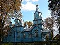 Троїцька церква. Побудована 1886 року. Суцільно дерев'яна. смт Олика. серпень 2010 року. Загальний вигляд..jpg