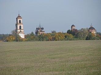 Savinsky District - Ruins of church complex, village Aleksino, Savinsky District