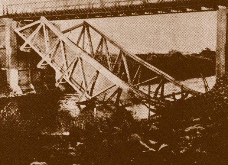 גשר שיח' חוסיין קרס לתוך הירדן 1946 ארכיון ההגנה