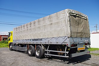 Tarpaulin - Mitsubishi Fuso Super Great Truck with tarpaulin to cover cargo