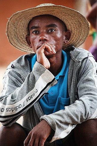 Human head - A man wearing a straw hat