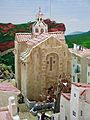 025 Maqueta del poble de Mont-roig del Camp al Centre Miró, església de Sant Miquel.jpg