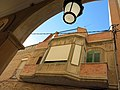 053 Cal Menutx (Mollerussa), des dels porxos de l'Ajuntament.JPG