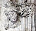 058 Generalitat, galeria gòtica, portal de l'Arxiu de Comptes.JPG